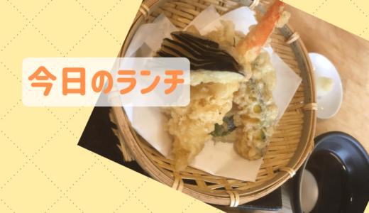 【今日のランチ】天ぷらをつゆに浸けサクっと食べたい...